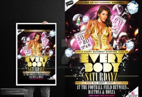 Every Body Saturday Party Flyer by Gallistero