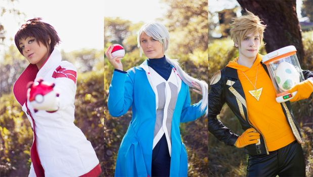 Candela, Blanche and Spark ~ Pokemon GO Cosplay by Yamato-Leaphere