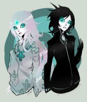 Halcyon and Drauve by Indigo-Lune