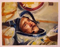 Oil painting - Chris Hadfield by Pearlpencil
