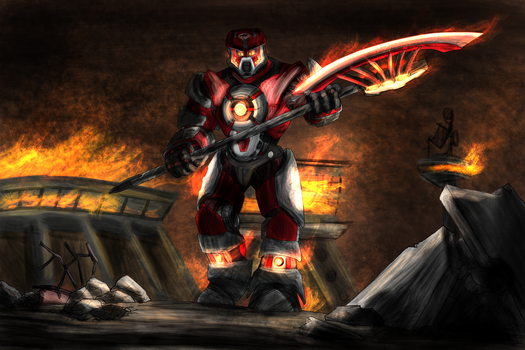 Commission: Burning Core by Scorpion-Strike