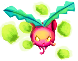 Hoppip used Cotton Spore!