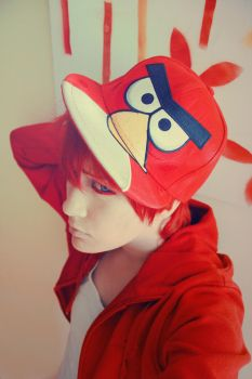 Little  Red Angry Bird by vanyAkun