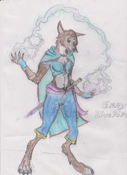 Emmy Bluefire! Character Portrait by Darkwolfthelycan