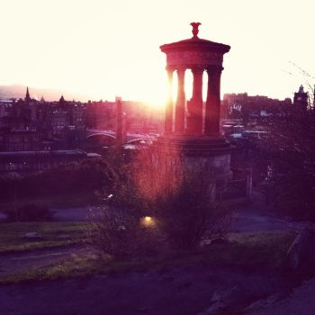 Sunset in Edinburgh by Racheii