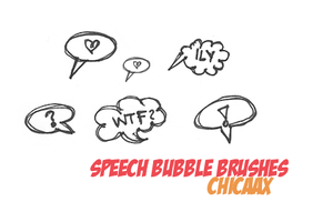Speech Bubbles Brushes by chicaax
