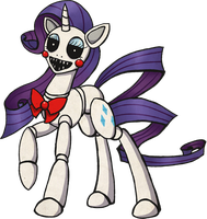 My Little Pony Rarity Animatronic by kaizerin