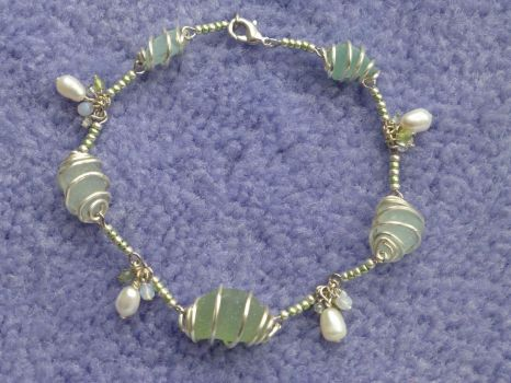 Seaglass bracelet by Duck-With-No-Name