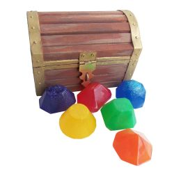 Make a Gemstone Soap filled Treasure Chest DIY pro by geekymcfangirl