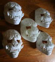 DIY Blank Lion of the Wind masks by mostlymade