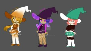 Witch Adoptables by DreamySheepStudios