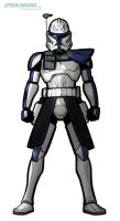 DRAW CAPTAIN REX from THE CLONE WARS by grantgoboom