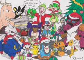 Pokemon Best Wishes Christmas COLOURED