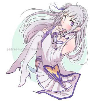 Emilia (Requested by Nope-san) by lita426t