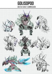 COMMISSION GOLISOPOD SKETCH SHEET by zacharybla