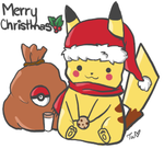 Merry Christmas from Pika by Turkey-Wang