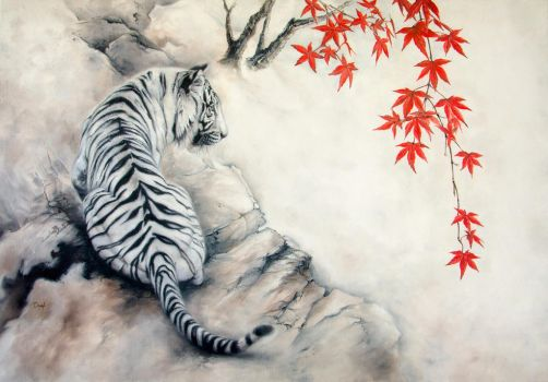 White tiger by IrenaDem