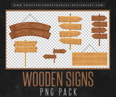 Wooden Signs | PNG by sweetpoisonresources