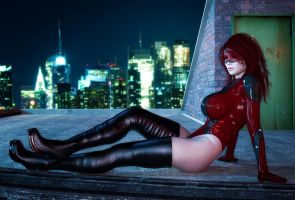 Scarlet Gravity waiting by maltorramus