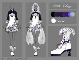 White Galaxy Dress - Auction closed by Nahemii-san