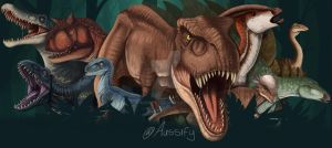 Jurassic World Fallen Kingdom Banner by aussify