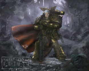 Rogal Dorn Victory Stance by behindspace99