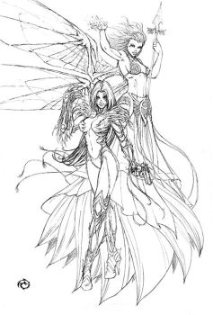 Grace and Witchblade by JwichmanN