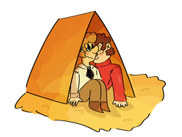 Boys in a tent by PorlsPeaches