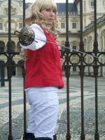 Lia with medieval sword by Liliane197