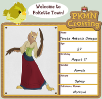 Pokemon Crossing App: Antonia by DragonOfEclipse