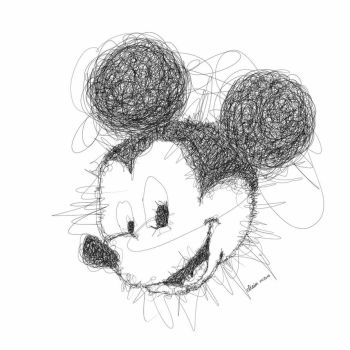 Mickey Mouse  -scribble art- by eliaim