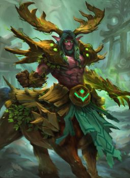 Cenarius, Lord of Forrest by thiago-almeida
