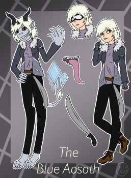 Cp Oc- The Blue Aosoth by Pinkwolfly