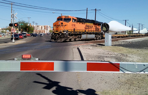 BNSF Train on Union Pacific Tracks in Tucson by WillM3luvTrains