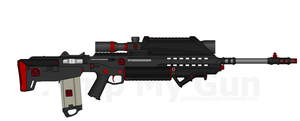 D.I.I. X-EBR-219B 'Sentinel' Battle Rifle by Lord-DracoDraconis