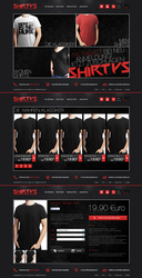 Shirtys - T-Shirt Shop Design by h1xndesign