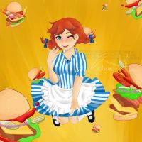 Wendys Burger Fun [Patreon Reward Term 1] by toriegarcia89