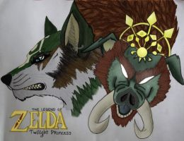 Legend of Zelda colored by BlueDaisy767