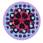 Whimsical flower button PNG by madetobeunique