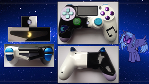 Custom PS4 Controller Nightmare Moon/Vinyl Scratch by CARDI-ology