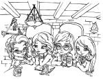 The Three Broomsticks by JadeDragonne