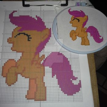 Scootaloo Completed by celestialqueen24