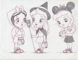 Disney Princess Kids Halloween by Anime-Ray