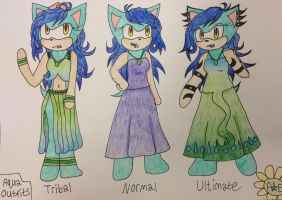 Aqua Outfits by PrinsesDaisyfanfan1