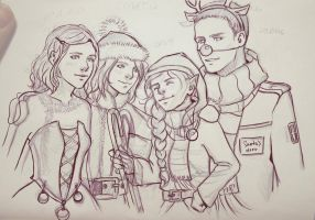 My family sketch by Juli556