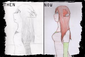 ::then and now:: by NeonRainboww