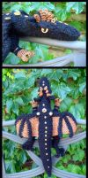 Steampunk Black Dragon Plushy by sunhawk