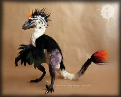 Jack the burnt - ooak raptor art doll by hikigane
