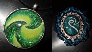 Some more space themed pendants by DevilishEvelyn