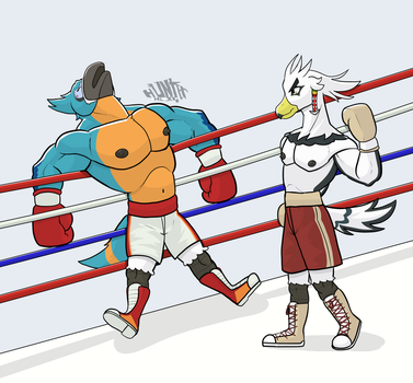Commission wave 3: Up for another round big guy? by GenshiTatsunora